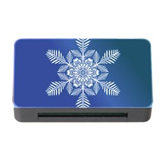 Flake Crystal Snow Winter Ice Memory Card Reader With Cf by HermanTelo