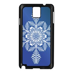 Flake Crystal Snow Winter Ice Samsung Galaxy Note 3 N9005 Case (black) by HermanTelo