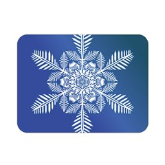Flake Crystal Snow Winter Ice Double Sided Flano Blanket (mini)
