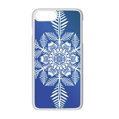 Flake Crystal Snow Winter Ice Iphone 8 Plus Seamless Case (white) by HermanTelo