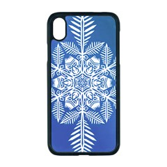 Flake Crystal Snow Winter Ice Iphone Xr Seamless Case (black)