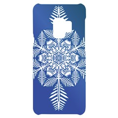 Flake Crystal Snow Winter Ice Samsung S9 Black Uv Print Case by HermanTelo