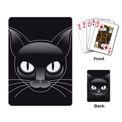 Grey Eyes Kitty Cat Playing Cards Single Design