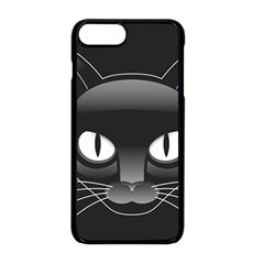 Grey Eyes Kitty Cat Iphone 8 Plus Seamless Case (black)