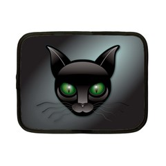Green Eyes Kitty Cat Netbook Case (small) by HermanTelo