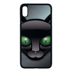 Green Eyes Kitty Cat Iphone Xs Max Seamless Case (black) by HermanTelo
