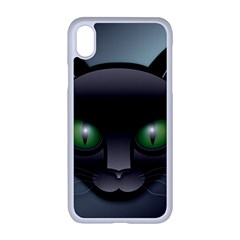 Green Eyes Kitty Cat Iphone Xr Seamless Case (white)