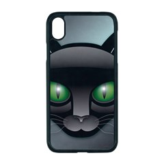 Green Eyes Kitty Cat Iphone Xr Seamless Case (black)