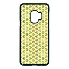 Hexagonal Pattern Unidirectional Yellow Samsung Galaxy S9 Seamless Case(black)