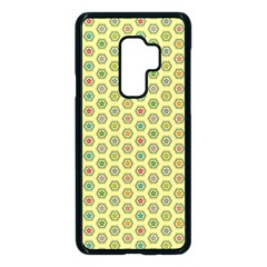 Hexagonal Pattern Unidirectional Yellow Samsung Galaxy S9 Plus Seamless Case(black) by HermanTelo