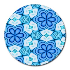 Pattern Abstract Wallpaper Round Mousepads by HermanTelo