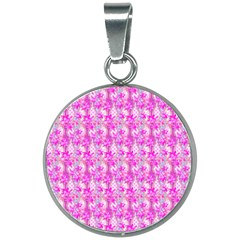 Maple Leaf Plant Seamless Pattern 20mm Round Necklace