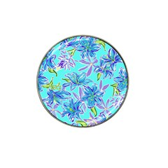 Preppy Floral Pattern Hat Clip Ball Marker (4 Pack) by tarastyle