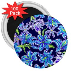 Preppy Floral Pattern 3  Magnets (100 Pack) by tarastyle