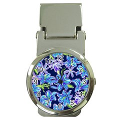 Preppy Floral Pattern Money Clip Watches by tarastyle