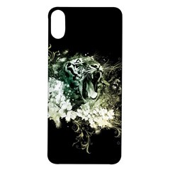 Awesome Tiger With Flowers Iphone X/xs Soft Bumper Uv Case