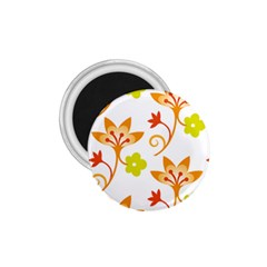 Pattern Floral Spring Map Gift 1 75  Magnets by HermanTelo