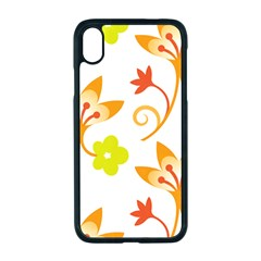 Pattern Floral Spring Map Gift Iphone Xr Seamless Case (black)