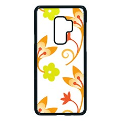 Pattern Floral Spring Map Gift Samsung Galaxy S9 Plus Seamless Case(black)