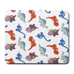 Pattern Dinosaurs Large Mousepads by HermanTelo