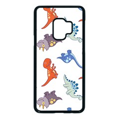 Pattern Dinosaurs Samsung Galaxy S9 Seamless Case(black)