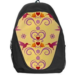 Pattern Bird Flower Backpack Bag