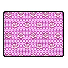 Paulownia Flowers Japanese Style Double Sided Fleece Blanket (small)  by HermanTelo
