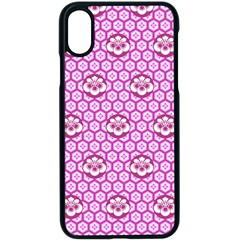 Paulownia Flowers Japanese Style Iphone Xs Seamless Case (black)