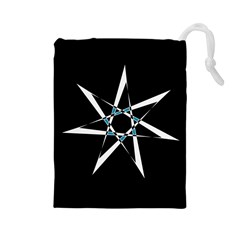 Star Sky Design Decor Drawstring Pouch (large) by HermanTelo