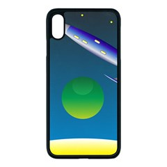 Rocket Spaceship Space Iphone Xs Max Seamless Case (black)