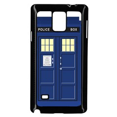 Tardis Doctor Who Time Travel Samsung Galaxy Note 4 Case (black)
