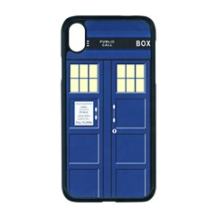 Tardis Doctor Who Time Travel Iphone Xr Seamless Case (black)