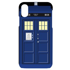 Tardis Doctor Who Time Travel Iphone X/xs Black Uv Print Case