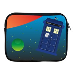 Tardis Doctor Time Travel Apple Ipad 2/3/4 Zipper Cases by HermanTelo
