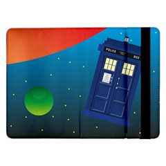 Tardis Doctor Time Travel Samsung Galaxy Tab Pro 12 2  Flip Case by HermanTelo