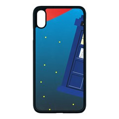 Tardis Doctor Time Travel Iphone Xs Max Seamless Case (black)