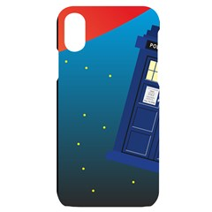 Tardis Doctor Time Travel Iphone X/xs Black Uv Print Case