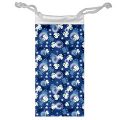 White Flowers Summer Plant Jewelry Bag by HermanTelo
