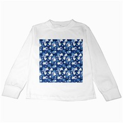 White Flowers Summer Plant Kids Long Sleeve T Shirts by HermanTelo