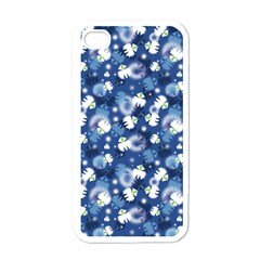 White Flowers Summer Plant Iphone 4 Case (white)