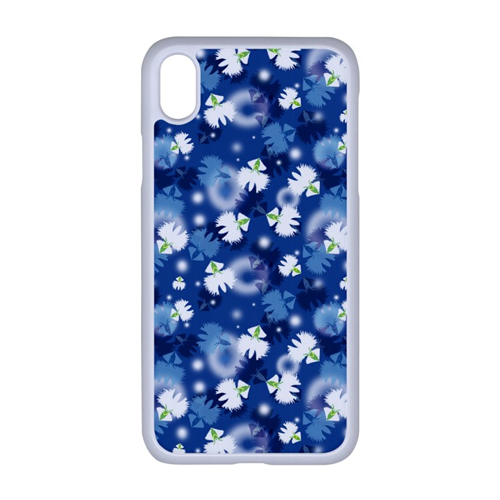 White Flowers Summer Plant iPhone XR Seamless Case (White)