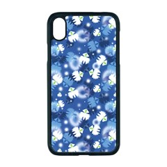 White Flowers Summer Plant Iphone Xr Seamless Case (black)