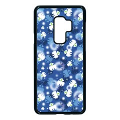 White Flowers Summer Plant Samsung Galaxy S9 Plus Seamless Case(black)