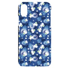 White Flowers Summer Plant Iphone X/xs Black Uv Print Case