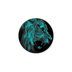 Angry Male Lion Predator Carnivore Golf Ball Marker (10 Pack) by Sudhe