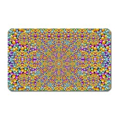 Pearl And Pearls And A Star Festive Magnet (rectangular) by pepitasart