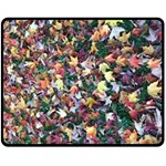 Scattered leaves Fleece Blanket (Medium) 60 x50  Blanket Front