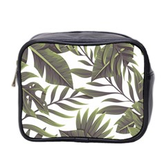 Tropical Leaves Mini Toiletries Bag (two Sides) by goljakoff