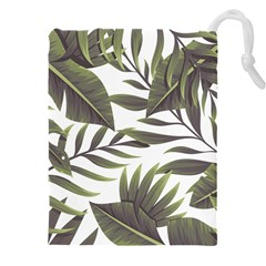 Tropical Leaves Drawstring Pouch (xxxl)