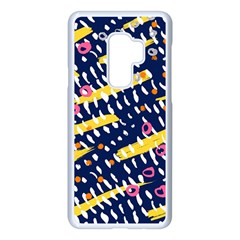 Abstract Colorful Doodle Pattern Samsung Galaxy S9 Plus Seamless Case(white) by tarastyle